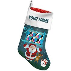 Christmas Stocking Pattern Toucan Blue Large Xmas night NEONBLOND *** Read more reviews of the product by visiting the link on the image. #XmasStockingsHolders