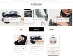 Ecommerce feminine genesis theme Aud by Lovely Confetti on Wordpress News Theme, Wordpress Shop, Wordpress Template, Themes Free, Website Themes, Start Up Business, Business Brochure, Free Design, Ecommerce
