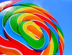 Rainbow swirl lollipop..