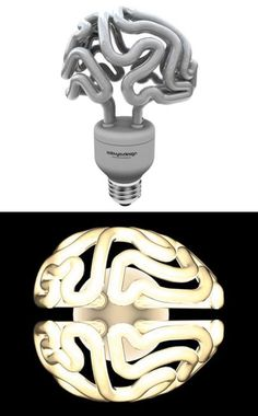Brain light bulb. For your brainy friend who has everything.
