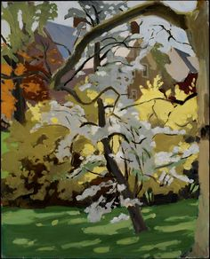 Fairfield Porter. Forsythia and Pear in Bloom. 1968.