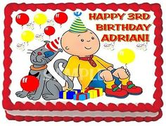 4 Caillou Edible Cake Topper by ItsEdible on Etsy 899 Cakes