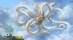 ArtStation - Hello, my old friend (Pearl Dragon), Svetlana Lazogreeva Mythical Creatures Art, Mythological Creatures, Weird Creatures, Magical Creatures, Dragon Images, Dragon Pictures, Chinese Dragon Art, Year Of The Dragon, Beautiful Dragon