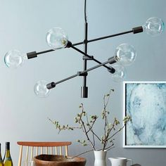 West Elm offers modern furniture and home decor featuring inspiring designs and colors. Create a stylish space with home accessories from West Elm. West Elm Chandelier, Mobile Chandelier, Modern Chandelier, Chandelier Lighting, Industrial Chandelier, Kitchen Chandelier, Pendant Chandelier, Chandelier Makeover, Sputnik Chandelier