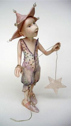 An Art Doll, by Art Doll Artist Yvonne Flipse. Her website: http://www.yvonneflipse.nl/.