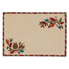 Woodland Fall Printed Placemat
