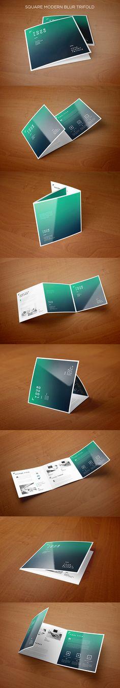Square Modern Blur Trifold. Download here: https://vimeo.com/131077537 #trifold #brochure #blur
