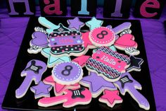 #rockstar rock star sugar cookies birthday party favors