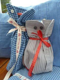 Oberhemden Recycling Herrenhemd Verpackung Weinflaschen verschenken