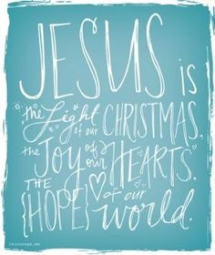 Jesus is...Light, Joy, Hope A whole page full of awesome printables.