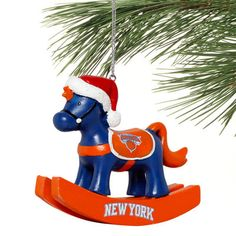 New York Knicks Rocking Horse Ornament