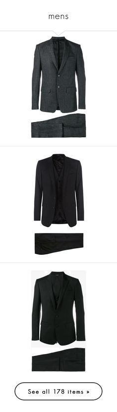 """mens"" by styledbylezah ❤ liked on Polyvore featuring men's fashion, men's clothing, men's suits, mens tailored suits, givenchy mens clothing, mens two piece suits, mens wool suits, mens formal suits, guys clothing and dolce gabbana mens clothing"