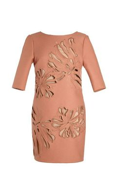 Allyson Floral Cutout V-Back Dress by No. 21 Now Available on Moda Operandi
