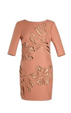 Allyson Floral Cutout V-Back Dress by No. 21 Now Available on Moda Operandi