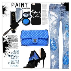 """""""Make a Splash With Paint Splatters"""" by dragananovcic ❤ liked on Polyvore featuring Rialto Jean Project, Medusa's Makeup, Yves Saint Laurent, Casetify, GetTheLook, polyvoreeditorial, polyvorecontest and PolyPower"""