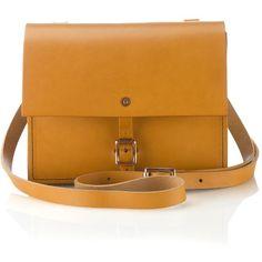 Alfie Douglas Tan Alfie One Shoulder Bag (1 340 SEK) ❤ liked on Polyvore