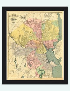 Old Map of Providence 1899, Rhode Island