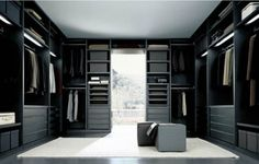 giant walk in closet..ummm YES PLEASE! @Michelle Bower :)