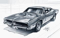 Car Design Sketch, Car Sketch, Pyssla Pokemon, Car Drawing Pencil, Cool Car Drawings, Car Tattoos, Bavarian Motor Works, Custom Muscle Cars, Industrial Design Sketch