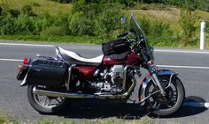 1982 Moto Guzzi California II - on my way home from Paziols, South of France. Fantastic
