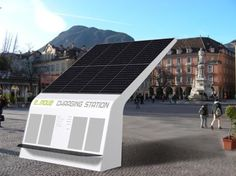 Love it!  Solar charging station coming soon to our Portland ME showroom