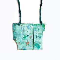 Maria Diaz Serrat Pendant: Hibernation, 2014 Silver, Acrylic Paint, Gauze, Paint 10 x 12 x 2 cm