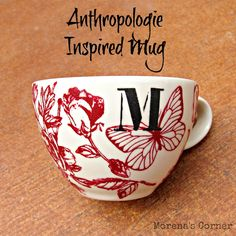 Use Martha Stewart silk screens and glass paints to create your own version of a monogrammed Anthropologie mug.