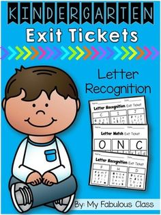 Exit tickets are a great formative assessment. They are a quick way to determine if students get the concept that you have taught or if they need to spend more time on the concept. There are two different styles of Letter recognition exit tickets.