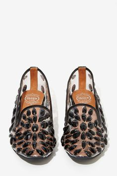 Jeffrey Campbell Elegant Jeweled Loafers