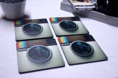 İnstagram Coasters This set include 4 coasters black plexiglass and a special print on it. They measured Please don't wash them. Whipe away gentley. Social Media Engagement, Holiday Wishes, Social Media Marketing, Coasters, Templates, Banquet, Office Decor, Cave, Geek