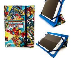 Kindle Cover Stand, Kindle Fire HDX Stand Case, iPad mini Case with Marvel Fabric, Kindle Fire HD 6 Case,  Nook Color Case stand