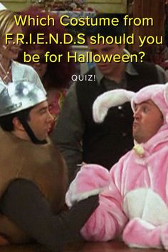 Which costume from 'F.R.I.E.N.D.S' should you be for Halloween? Which costume from the beloved FRIENDS TV show should you be for Halloween this year? Take this quiz and find out today!