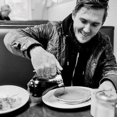 Brian Fallon instagram pic. Now I want pancakes.