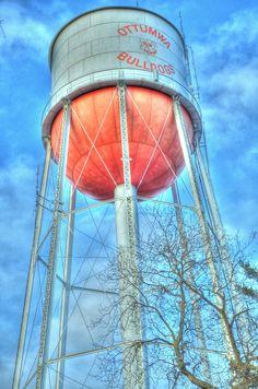 Ottumwa, Iowa water tower College town #1