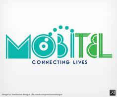 Logo - Corporate branding. MOBITEL, a telecommunications provider