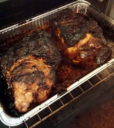 "Roasted pork butt roast -Anoyher pinner wrote: ""I made this yesterday for dinner and I tell you O-U-T-STANDING and don't get me wrong I make a good pork butt or shoulder but sometimes you just like to add something different [ok]"" Pork Ham, Bbq Pork, Barbecue, Pork Dishes, Cooking Recipes, Game Recipes, Recipies, Dinner Recipes, Carne Asada"