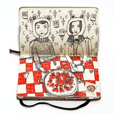 The Last Supper, Clever Notebook Illustrations of Characters Sitting Down for a Meal by Nataliya Platonova