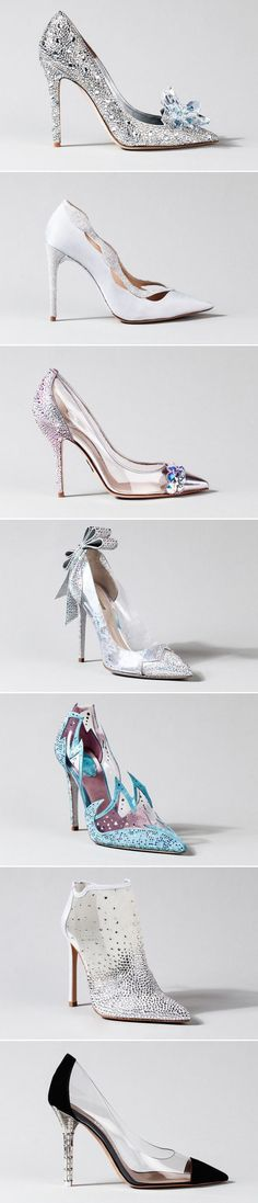 15 Stunning Cinderella-Inspired Wedding Shoes – The Glass Slipper Project: Cinderella-Inspired Designer Shoes The Best of high heels in - Fashion Women Shoes Store - Fashion Women Shoes Store Bling Wedding Shoes, Bling Shoes, Bridal Shoes, Wedding Heels, Wedding Hair, Bridal Hair, Diy Wedding, Wedding Jewelry, Pretty Shoes