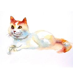 CUSTOM CAT PORTRAIT Personalized pet portrait. Cat by deodea, $25.00