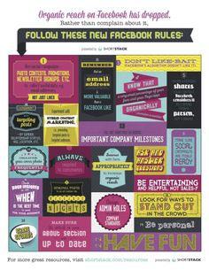 Organic reach on FaceBook has dropped. Follow these new FaceBook rules #infographic