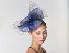The Statement Piece of the season! - Exalted Elegance Fascinator in blue #hairaccessory #janetran #fascinator #headband