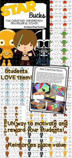 STAR Bucks are a fun way to reward your students for classroom behavior, doing homework, participation, or just about any reason to reward students. STAR Bucks have the Star Wars theme, which makes them even more fun. You can take this theme and run with it, having a STAR student bulletin board, STAR student of the week, STAR work, etc. The ideas are limitless! From $1 to $10,000 bills. My students LOVED them!!
