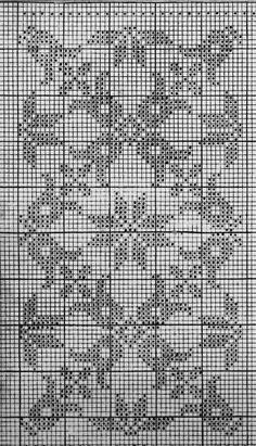 Sneeuwklokjes Hand Embroidery Design Patterns, Cross Stitch Sampler Patterns, Cross Stitch Samplers, Loom Knitting Patterns, Knitting Charts, Weaving Patterns, Crochet Lace Edging, Crochet Doilies, Crochet Stitches