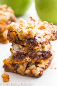 If you like 7 Layer Bars, aka Magic Bars or Hello Dolly Bars – you will flip for this apple and butterscotch version!