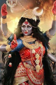 The center of the homam include a recitation of the Durga Saptashati. Maa Kali Images, Durga Images, Lakshmi Images, Maa Durga Photo, Maa Durga Image, Navratri Puja, Happy Navratri, Kali Goddess, Indian Goddess