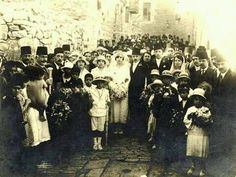 Old Palestine : Mariage à Jérusalem 1922