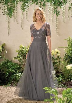 Jade J195012 Grey Mother Of The Bride Dress