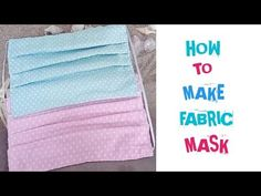 How to Make Fabric Mask Easily - Face Mask Tutorial Small Sewing Projects, Sewing Hacks, Sewing Tutorials, Diy Mask, Diy Face Mask, Diy Couture Trousse, Paper Dahlia, Baby Shower Invitaciones, Sewing Stitches