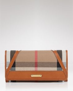 Burberry Wallet Bridle House Check Penrose in Brown (dark tan) - Lyst