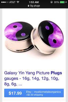 Found on google images- Yin yang galaxy plugs